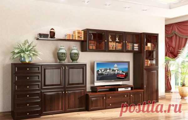 Современные стенки горки в гостиную — фото разных моделей