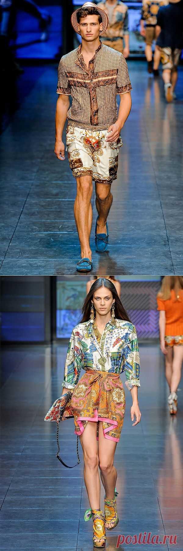 Мужские рубашки из платков от Дольче и Габбана / Платки / Модный сайт о стильной переделке одежды и интерьера