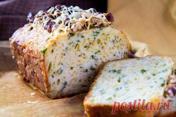 Любопытный повар - Летний кекс с сыром и зеленью.