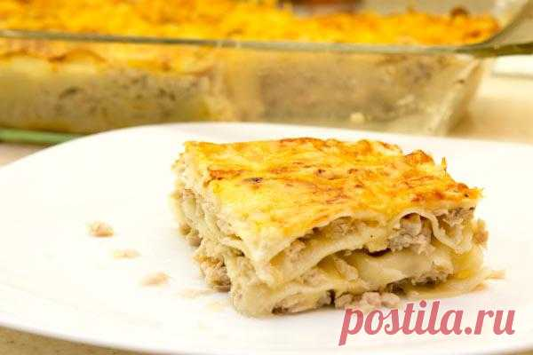 Мясные блюда: Белая лазанья