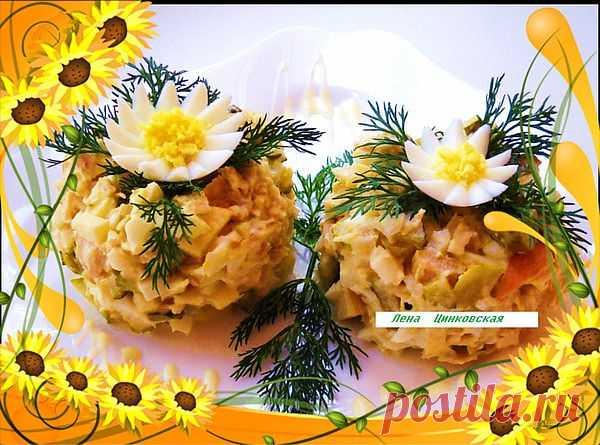 Салат из мяса птицы с яблоками | 4vkusa.ru