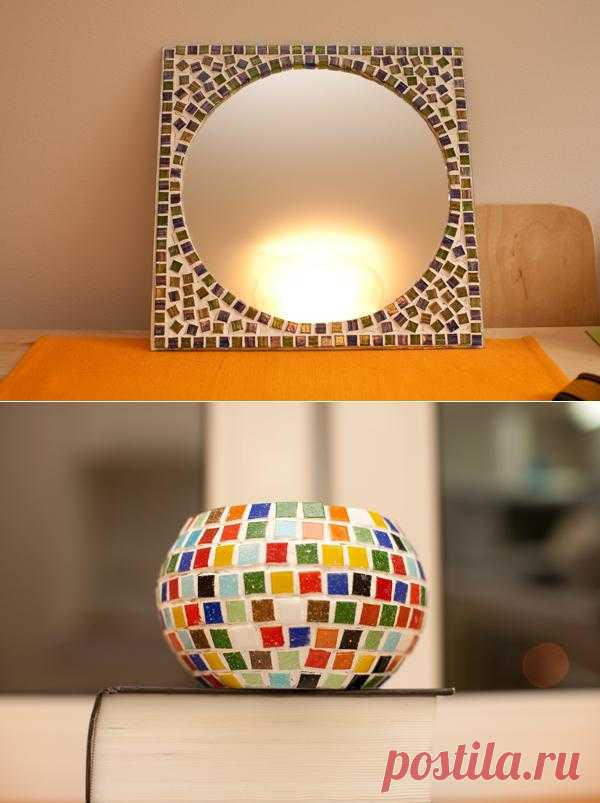 Зеркала, декорированные мозаикой. Мастер-класс