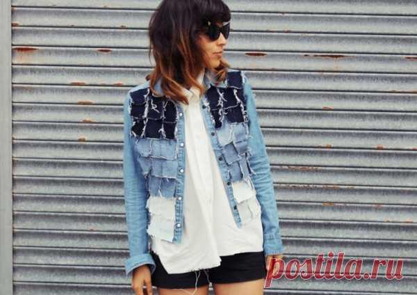 Лоскутная джинсовка / Курточные переделки / Модный сайт о стильной переделке одежды и интерьера