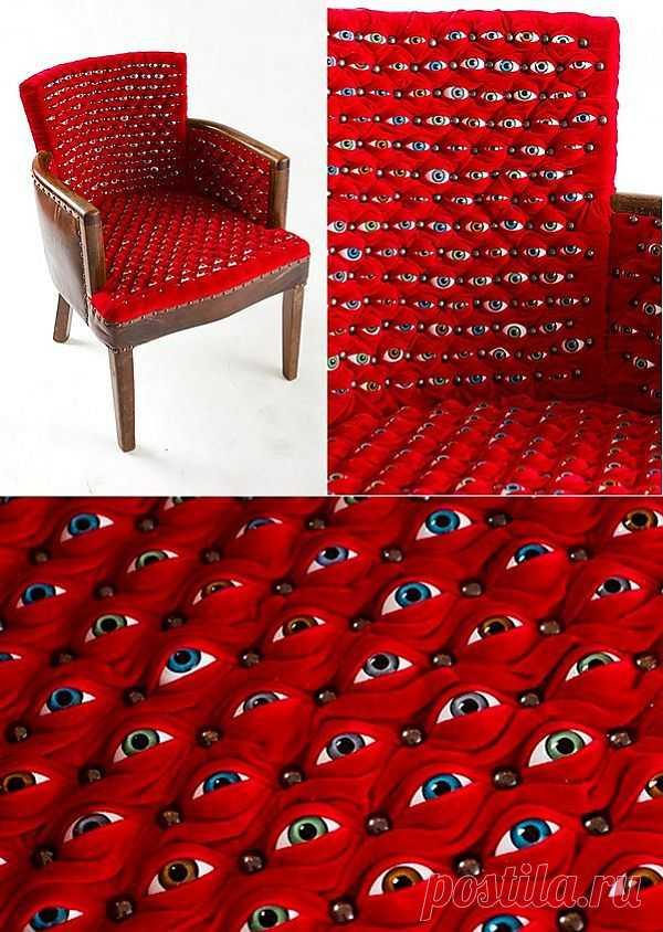 Глазастое кресло / Мебель / Модный сайт о стильной переделке одежды и интерьера