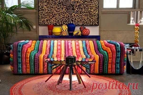 Креативный диван / Мебель / Модный сайт о стильной переделке одежды и интерьера