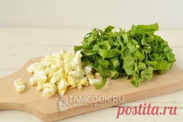 Заливной пирог с черемшой и яйцом, рецепт с фото
