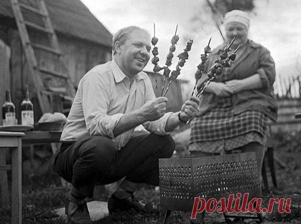 Клоун Олег Попов в гостях у родителей