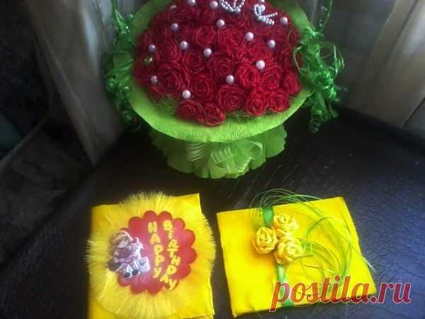 Вечный календарь, открытка, корзинка цветов