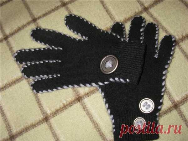 Идея эксклюзивных перчаток за 5 минут. (Мастер-класс по клику на картинку).