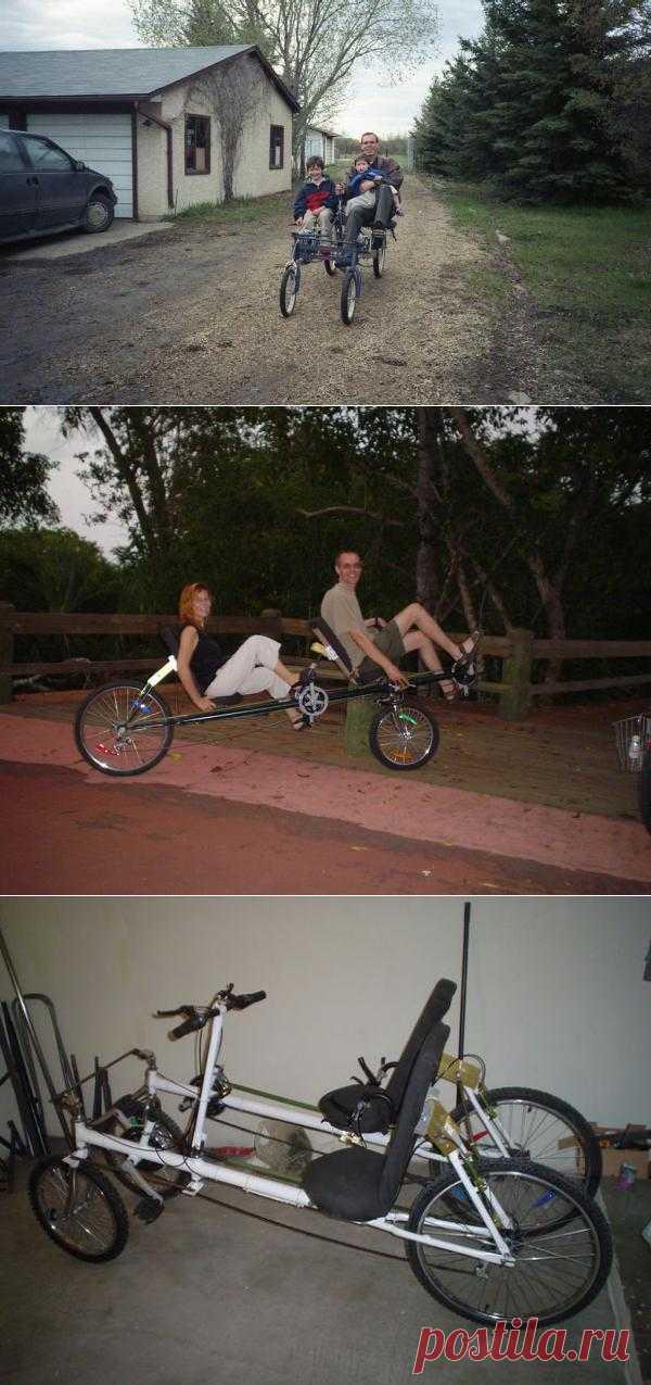 Для любителей велосипедов вот такие вот модели, которые можно собрать самим)