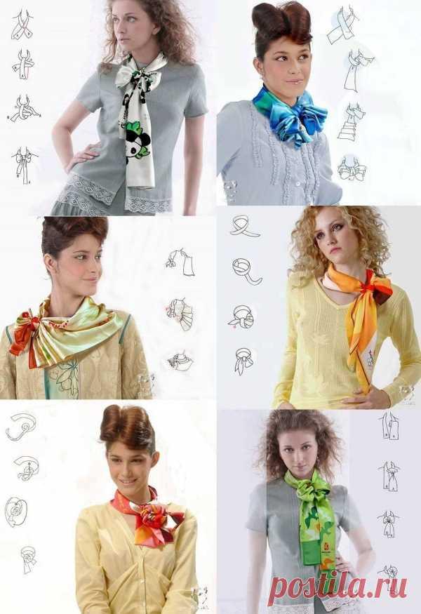 6 оригинальных способов повязать шейный платок