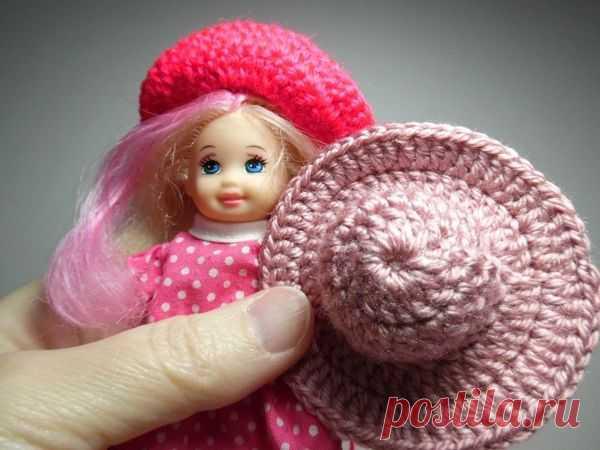 Мастер-класс: Как связать крючком шляпку для куклы | Журнал Ярмарки Мастеров