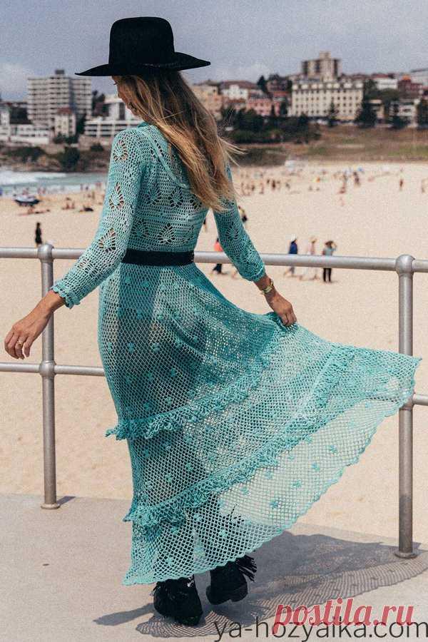 Модное летнее платье крючком 2020. Стиль бохо винтаж платья лето