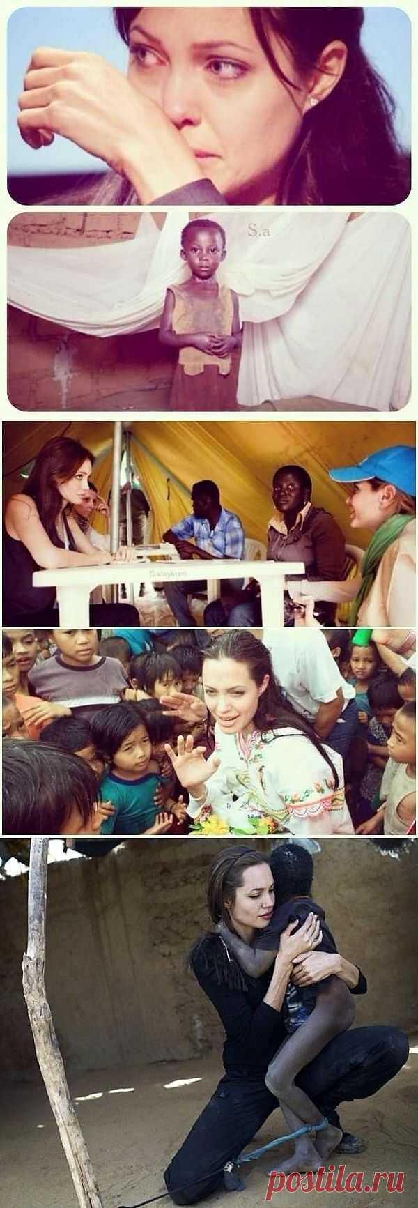 """""""Когда ты делаешь что-то от души, не ожидая благодарности, кто-то записывает это в книгу судеб и посылает счастье, о котором ты даже не мечтал."""" А.Джоли"""