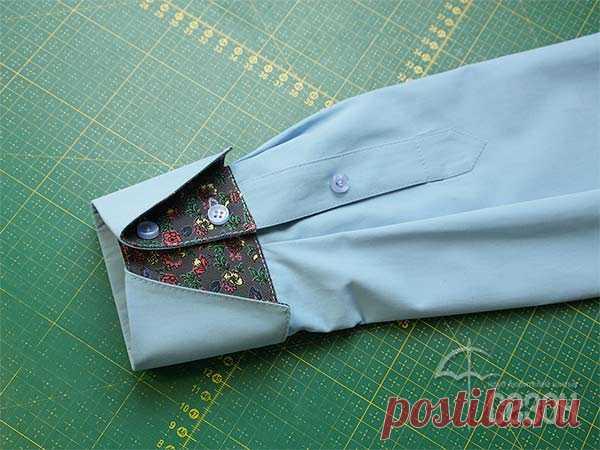 Клуб любителей шитья Сезон - сайт, где Вы можете узнать все о шитье - Манжета с отворотом и шлица на рукаве рубашки