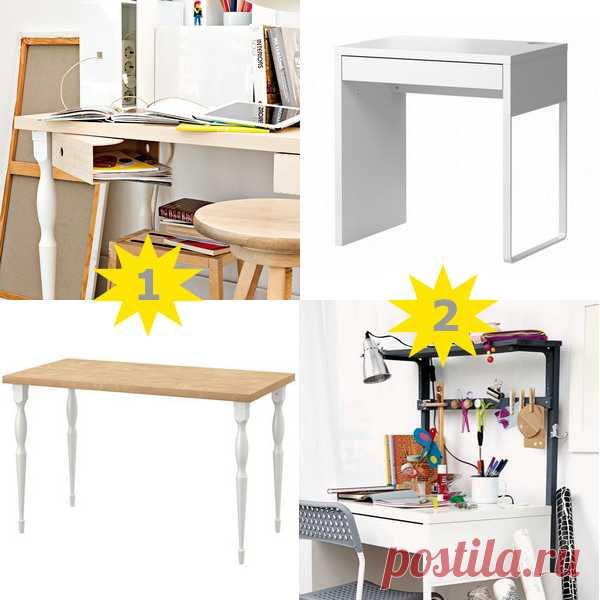 Как сделать рабочий стол более удобным, 2 мастер-класса из мебели ИКЕА