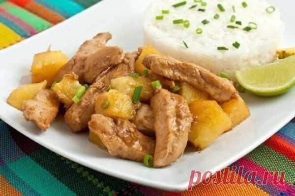 Куриная грудка карри с ананасами и помидорами, рецепт с фото   Вкусные кулинарные рецепты