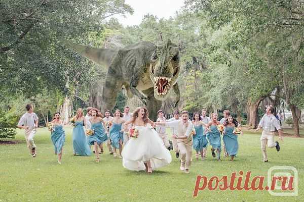 Свадьба Юрского периода / Фото (идеи съемок) / Модный сайт о стильной переделке одежды и интерьера