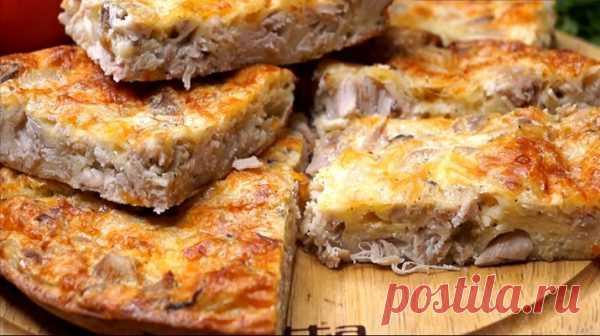 Легкий куриный пирог-запеканка — Ваш идеальный способ вкусно поесть и быть в отличной форме
