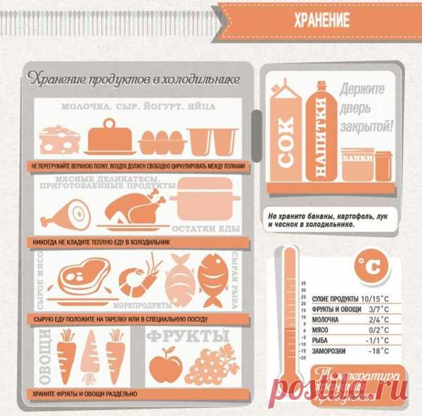 Crib for kitchen: storage of products in the refrigerator.