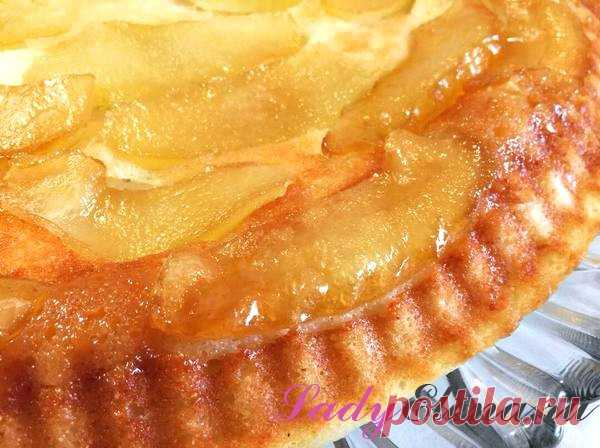 Рецепт творожного пирога с яблоками в карамели – фото рецепт