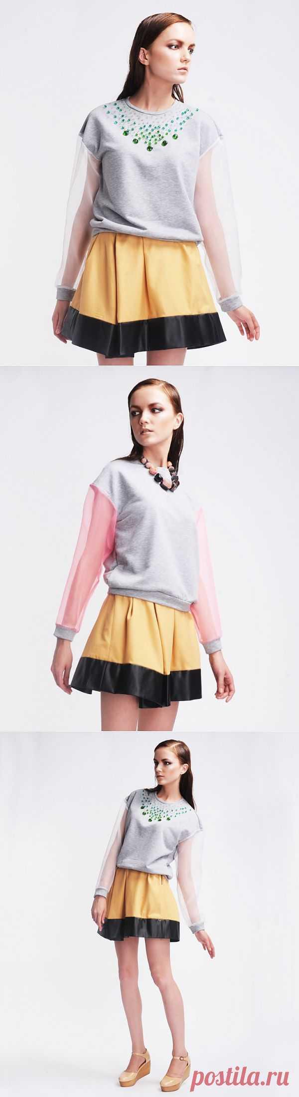 Свишот с прозрачными рукавами / Худи / Модный сайт о стильной переделке одежды и интерьера