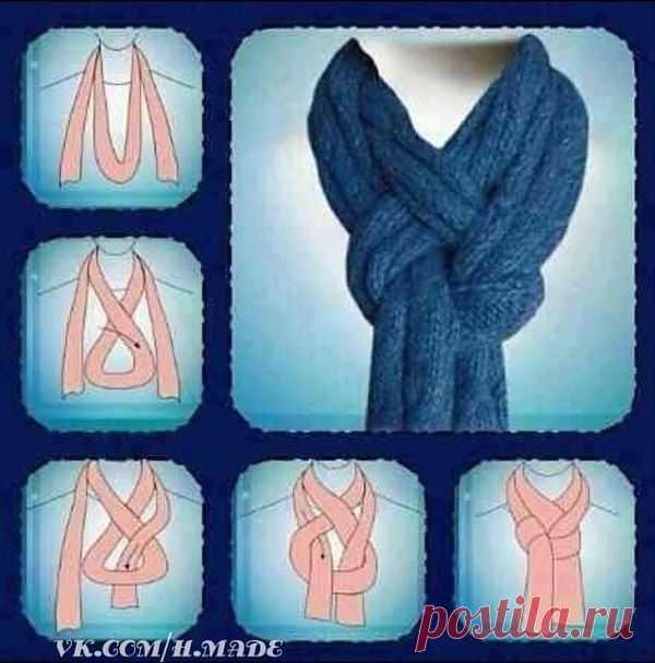 Красиво завязать шарф / Шарфы / Модный сайт о стильной переделке одежды и интерьера