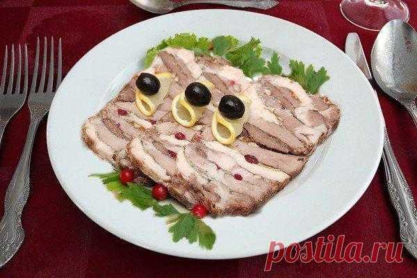 Праздничная мясная закуска - Мясная слойка «Барская закуска»