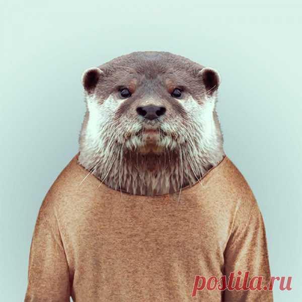 Забавная серия «Зоопортреты» от барселонского фотографа Яго Парталя (Yago Partal). На снимках он искусно сочетает головы животных с телами людей. В итоге получаются юморные снимки животных в человеческих одеждах, причем, каждый из них, кажется, имеет собственный стиль и характер. Волк в смокинге, носорог в кожаной куртке и медведь в зимнем свитере – просто прелесть!
