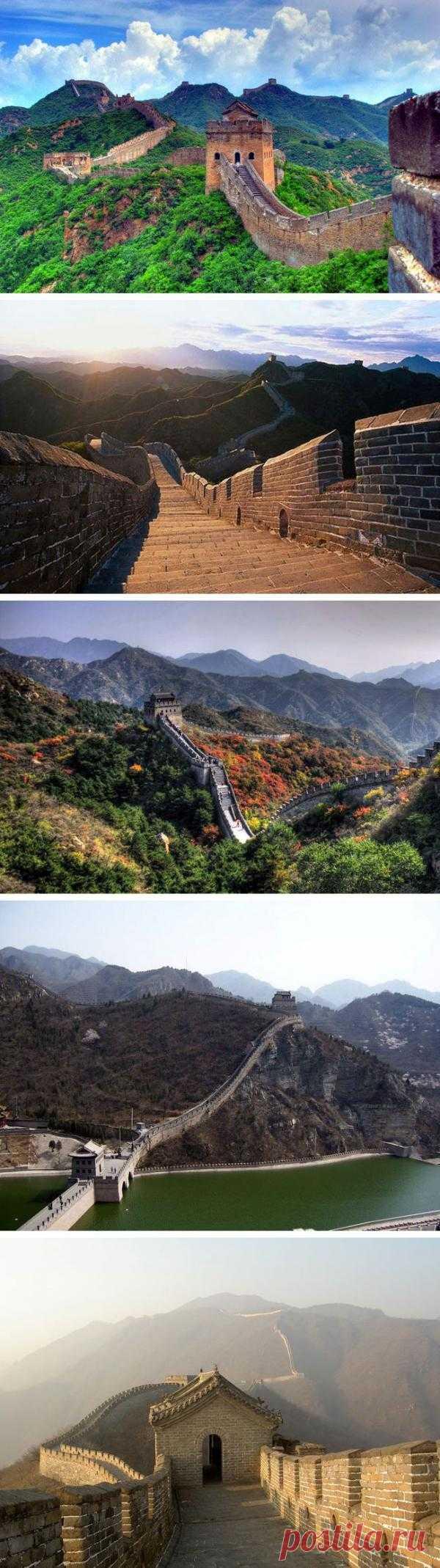 Великая Китайская стена. Ее возведение заняло около двух тысяч лет. Длина же составляет 2500 километров, а если учесть отходящие от нее другие крепостные валы, то получится 8 тысяч 851 километр и 800 метров.