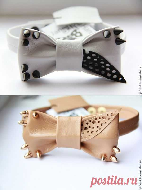 Не совсем обычные галстуки-бабочки из кожи / Аксессуары (не украшения) / Модный сайт о стильной переделке одежды и интерьера