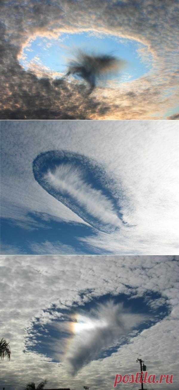 Необычные облака - эффект Fallstreak