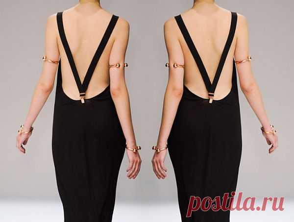 Спинка платья с подтяжками / Декор спины / Модный сайт о стильной переделке одежды и интерьера