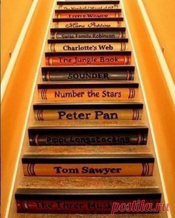 Декорирование поталью. Необычный декор лестницы! (Описание по клику на картинку).