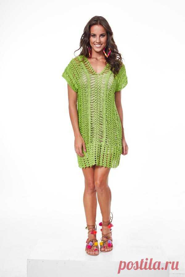 Vestido de Crochê de Grampo Verde com Linha Charme – Blog do Bazar Horizonte