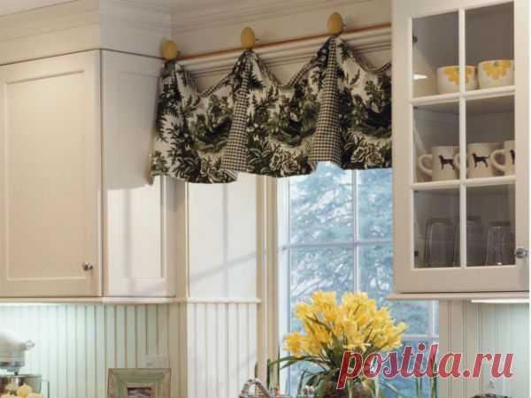 Пошив штор для кухни своими руками