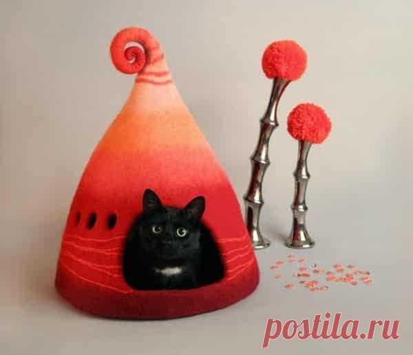 Уникальные домики для кошек: работы украинского дизайнера впечатляют пользователей Сети