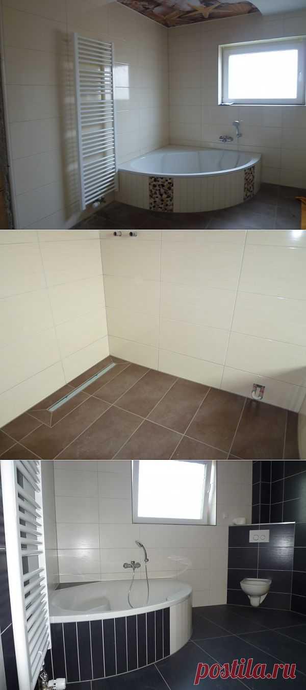 (+1) тема - Выкладка кафеля в ванной комнате. | Школа Ремонта