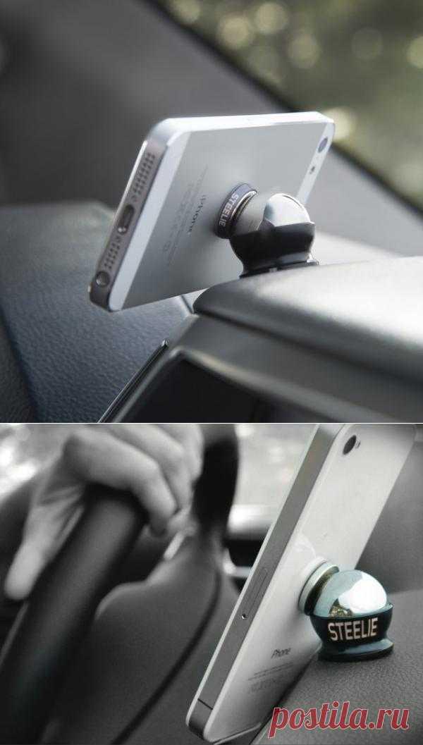 Магнитный крепёж для iPhone в автомобиле - $35