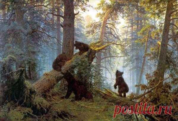 """Знаете ли вы, что у картины «Утро в сосновом лесу» два автора - Шишкин и Савицкий? """"Я покупал картину у Шишкина. Почему еще Савицкий? Дайте-ка скипидару"""", - сказал Третьяков и собственноручно стер подпись Савицкого."""