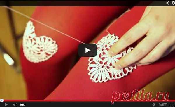 Кружевные салфетки на коленках (Diy) / Носки, колготки, леггинсы / Модный сайт о стильной переделке одежды и интерьера