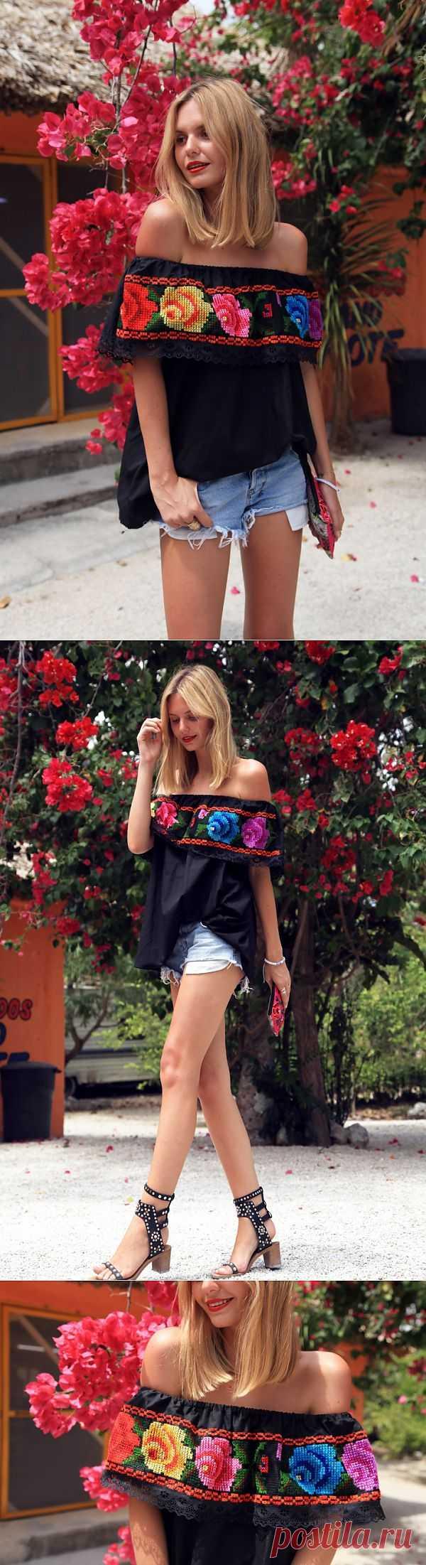 Вышитые розы / Вышивка / Модный сайт о стильной переделке одежды и интерьера