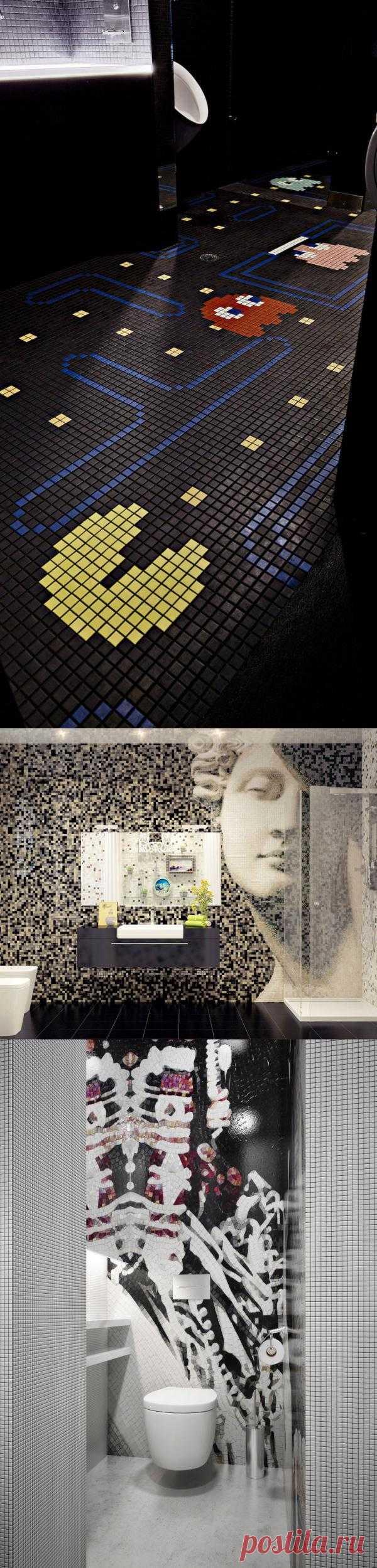 """Говорят, что самая известная мозаика, выложенная в античном мире, содержит в себе около полутора миллионов кусочков - Это """"Битва при Иссе"""" иллюстрирующая битву Александра Македонского с персидским царем Дарием. Так вот посмотрите на современных мозаичников, творящих свои шедевры в таком, казалось бы, банальном месте - в обычной ванной!"""