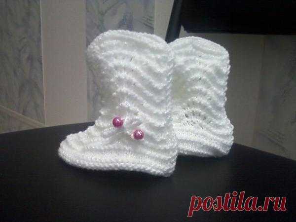boots knitted spokes