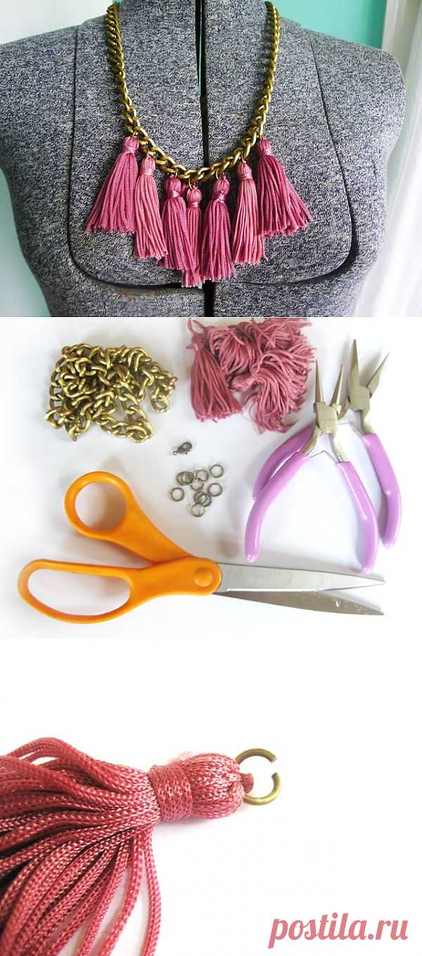 Колье с кисточкамит (Diy) / Украшения и бижутерия / Модный сайт о стильной переделке одежды и интерьера