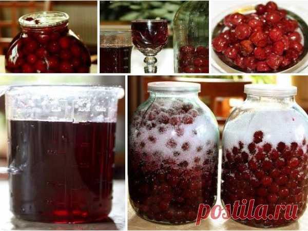 Приготовление вина из вишни с косточкой в домашних условиях