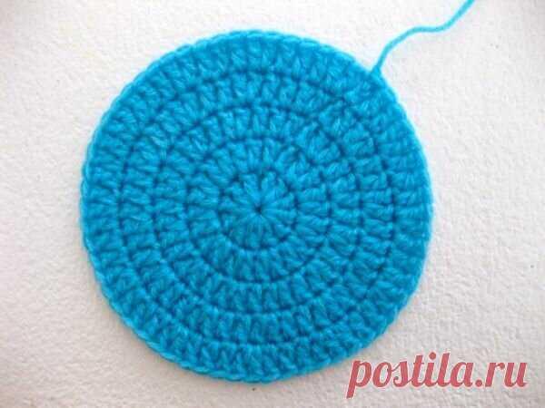 1000 идей для вязания спицами: Как связать идеальный круг крючком