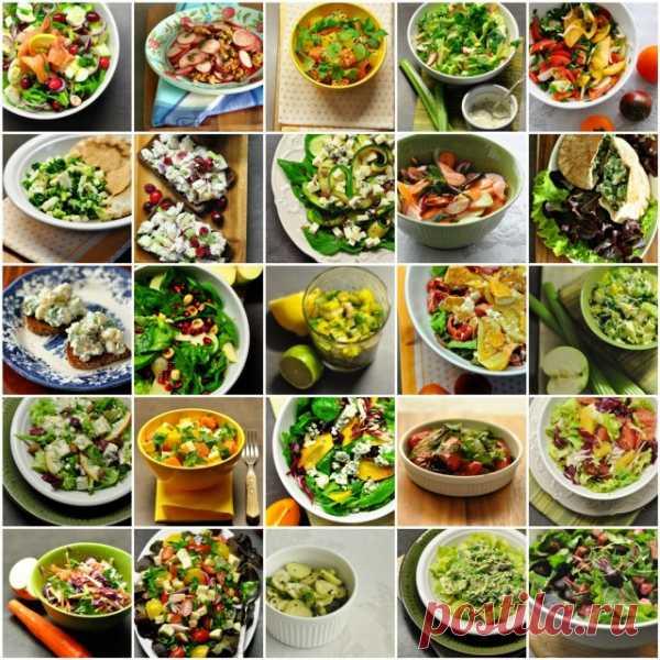 Думаете какй бы салат приготовить? Проект 50 салатов. (Рецепты по клику на картинку).