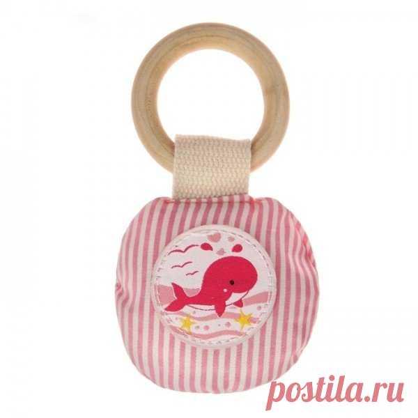 Кольцо деревянное с игрушкой для малышки