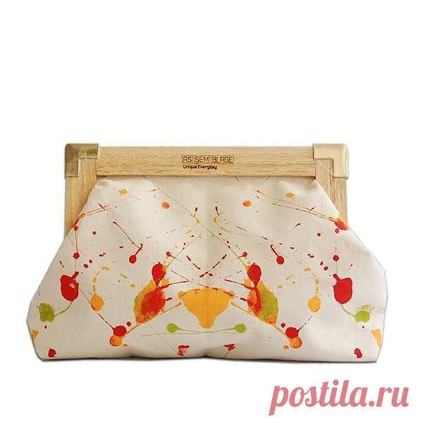 Клатч с пятнами Роршаха / Сумки, клатчи, чемоданы / Модный сайт о стильной переделке одежды и интерьера
